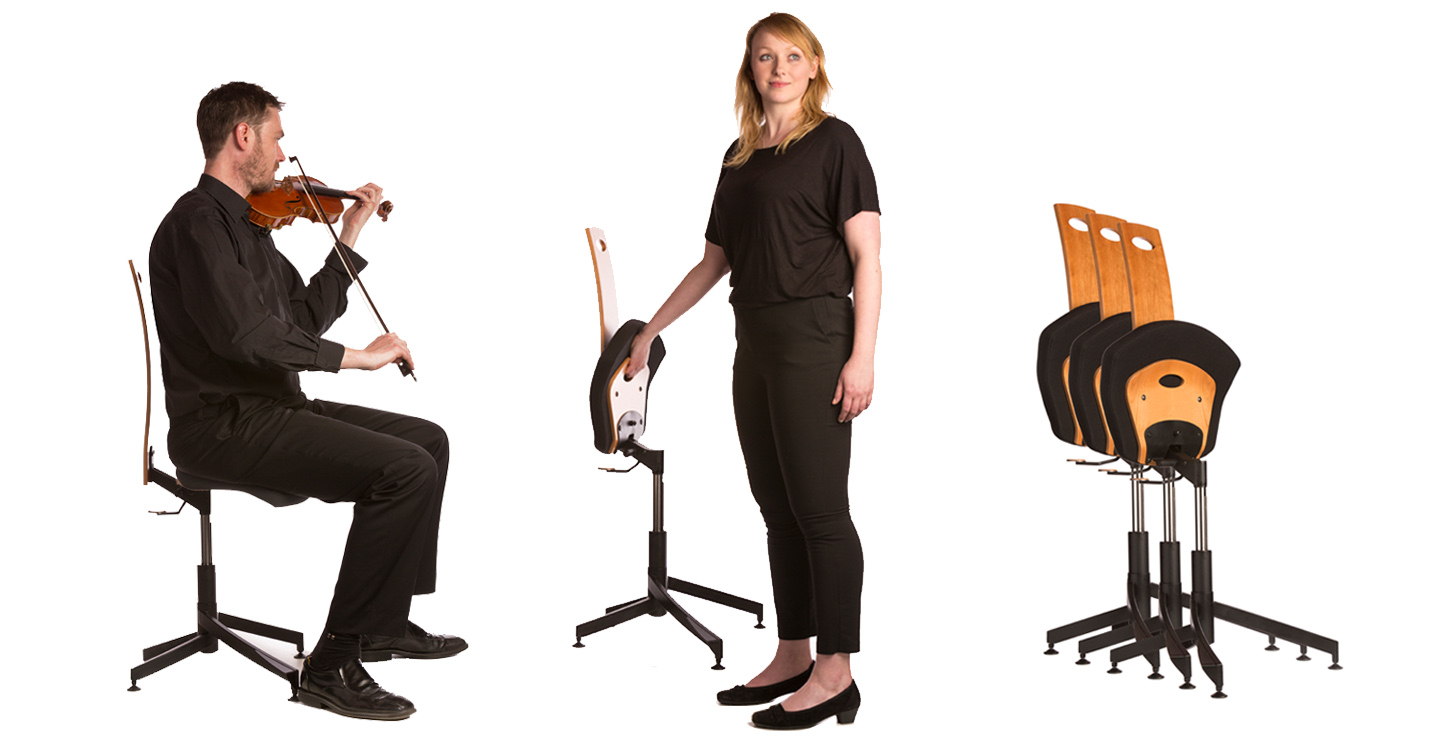 adjustable orchestra chair